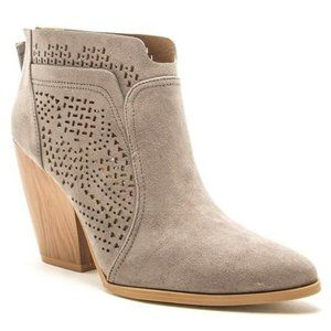 Shoes - CHIC TRAVELS HEELED BOOTIES-GREY